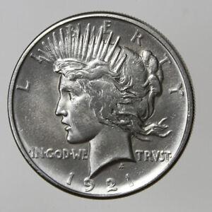 1921-P $1 PEACE SILVER DOLLAR CH/GEM BU