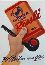 Original Plakat - Rössli - Burger Tabak