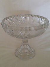 Vintage McKee Glass Co. INNOVATIONS Cut Glass Line, Pedestal Compote/Candy Dish
