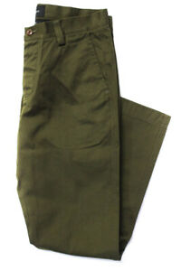 Wings + Horns Mens Tokyo Pants Olive Green Cotton Size 31