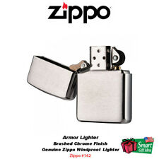 Zippo Armor Lighter, Brushed Chrome, Windproof  Pocket #162
