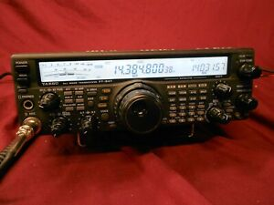Yaesu FT-847 HF/VHF/UHF transceiver.