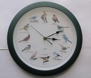 BIRD CALL SOUNDS CHIRP BIRDING QUARTZ WALL CLOCK WORKS GREAT VERY CLEAN