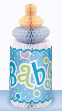Baby Shower Party Giant Bottle Honeycomb Centrepiece Table Decorations Blue Boy