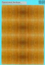 Print Scale Decals PLYWOOD DECAL RED-BROWN Wood Surfaces Part 2
