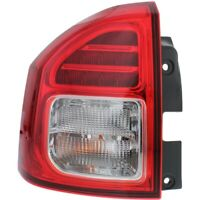 Halogen Tail Light For 2014-2017 Jeep Compass Left Clear & Red Lens w/ Bulb(s)