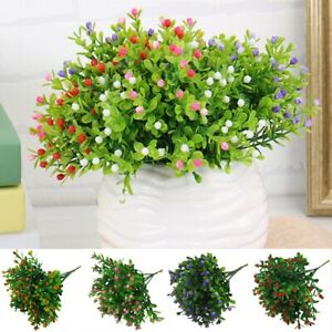 Artificial Fake Flower Plastic Plant Decoration Home Outdoor Garden Milan Grain