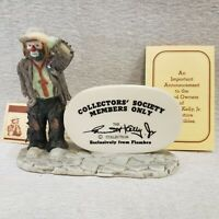 """Emmett Kelly Jr. Collectors Society Members Only Figurine by Flambro 6""""w Vintage"""