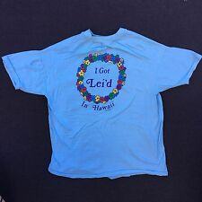vintage I Got Lei'd In Hawaii Poly Tees 1983 thin T-Shirt state flower surf XL