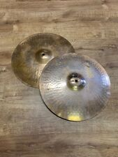 """More details for vintage paiste 16"""" cymbals pair (1 damaged) #300"""