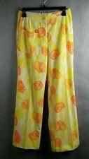 Original Vintage The Lilly Pulitzer Womens Sportswear Pants Sz 10 Yellow Orange