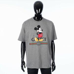 GUCCI x DISNEY 650$ Oversized Crewneck Tshirt In Grey Cotton