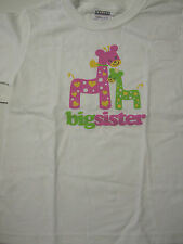 New Big Sister Girafffe Design T-Shirt, Size 2-4 (Extra Small), Cotton, New
