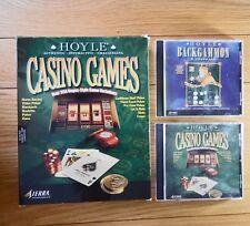 HOYLE 350 x CASINO GAMES + BACKGAMMON & CRIBBAGE PC CD-ROM GAME BOX SET