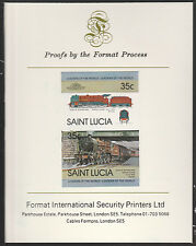 St Lucia (2012) Locomotives #1 Duke of Sotherland  imperf on Format PROOF  CARD
