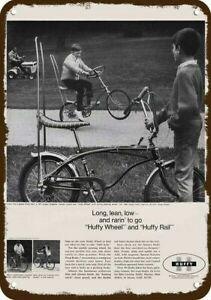 1968 HUFFY WHEEL & HUFFY RAIL BIKE Vintage Look DECORATIVE REPLICA METAL SIGN