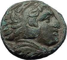 ALEXANDER III the GREAT 323BC Hercules Club Macedonia Ancient Greek Coin i59165