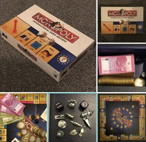 Monopoly International Euro Edition 100% Complete Hasbro Collectors Game VGC