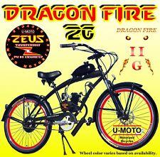 "2-Stroke 66cc/80cc Motorized Bike Kit With 26"" Cruiser Bike High Performance"