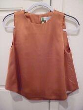 NELLIE PARTOW sleeveless rust Blouse SZ 8-EUC!