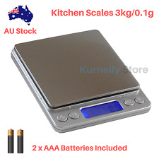 3kg/0.1g Kitchen Digital Scales LCD Electronic Balance Food Weight Postal Scales