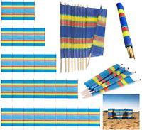 4 5 6 8 10 Poles Wooden Wind Breaker Beach Camping Windbreak Sun Screen Shelter