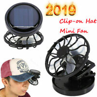 Clip-on Hat Mini Clip Solar Sun Energy Power Panel Cell Cooling Fan Cooler UK AN