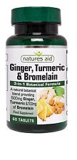 Natures Aid Ginger, Turmeric & Bromelain x 60 Joints, Osteoarthritis