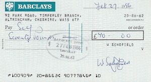 BARCLAYS BANK CHEQUE 1986