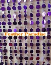 20 Yards Retro PVC Metallic Purple Beaded Garland Curtain Strand