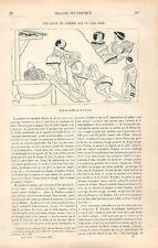 Comédiens Scène de Comédie Vase de Grèce Antiquité Apollon Delphes GRAVURE 1881