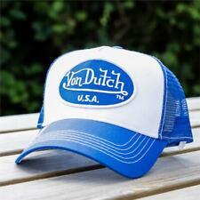 Mens Von Dutch Trucker Cap White/Royal 114499 (G1) RRP £29.99