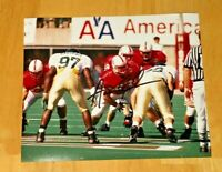 NEBRASKA FOOTBALL CORNHUSKER AARON GRAHAM #54 & BROOK BERRINGER #18 SIGNED PHOTO