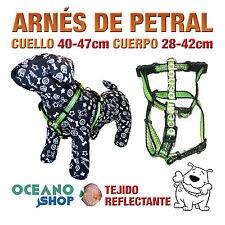 ARNÉS PETRAL VERDE TEJIDO REFLECTANTE AJUSTABLE PERRO CUERPO 28-42cm L78 3367