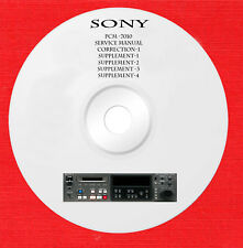 Sony PCM-7010 Service manual on 1 cd in pdf format