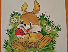 VINTAGE AUTHENTIC ERWIN MULLER EASTER ART RABBIT PAINT EGGS  KITCHEN TEA TOWEL