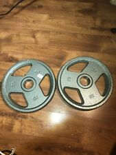"""BRAND NEW 2 Weider 25lb Olympic 2"""" weight Plates 50lb Total FREE SHIPPING"""