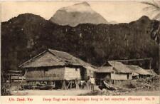 PC BOEROE Dorp TOGI met den heiligen berg in het verschiet INDONESIA (a5297)