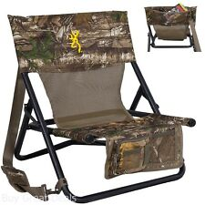 Hunter Chair Pocket Back Turkey Predator Hunting Seat Blind Browning Camping New