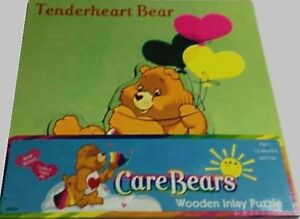 Care Bears Tenderheart Bear Wood Inlay Puzzle Factory Sealed made 2004 NEW