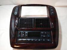 2002-2005 EXPLORER DASH RADIO TRIM BEZEL W/AC HEAT CLIMATE CONTROL WOOD GRAIN