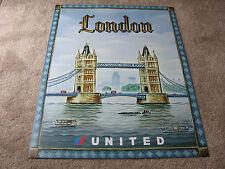 UNITED AIRLINE LONDON TRAVEL POSTER 2004 TIM ZELTNER ORIGINAL UAL ISSUE NEW MINT