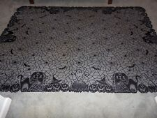 """New Halloween Black Gothic RIP Witches Brew design Tablecloth 60"""" x  83"""""""