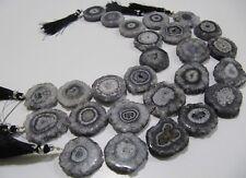 Fabulous Gray Solar Quartz Beads Size 25mm Grey Druzy Beads Strand 10 Inches