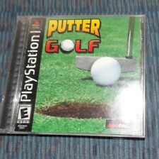 Putter Golf Sony PlayStation 1 Game COMPLETE Manual PS1 PSX Miniature Golf Game