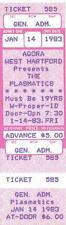 THE PLASMATICS 1983 UNUSED TICKET Agora WEST HARTFORD CT Wendy O Williams