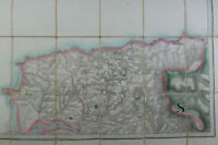 1879 Old Antique OS Ordnance Survey Old Series One Inch Map Sheet 27 Barnstaple