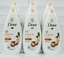 BUY-6-Dove Body Wash Purely Pampering SHEA BUTTER  & Vanilla Shower Gel 500 Ml