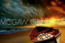 "CARLOS CASAMAYOR - SOFT SUNRISE ON THE BEACH 9 - ART PRINT POSTER 11"" X 14""(2244"