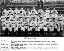 1947 DETROIT TIGERS MLB BASEBALL TEAM 8X10 PHOTO HOFs HAL NEWHOUSER GEORGE KELL